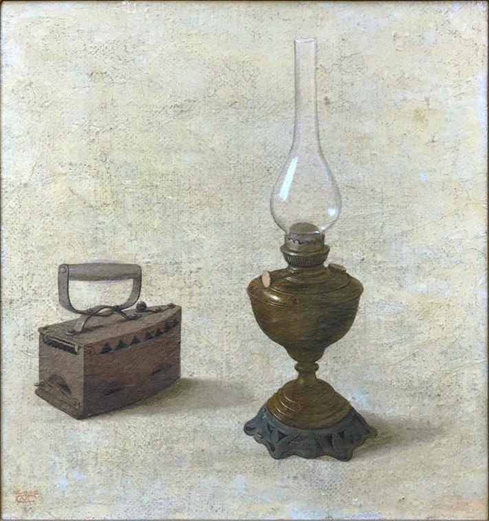 Lamp-and-Iron-64x68-mixed-media-on-canvas