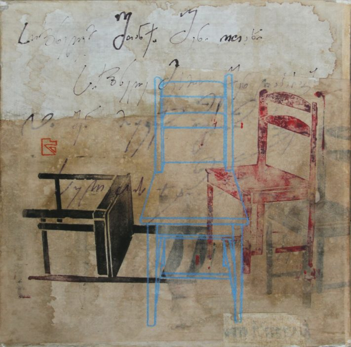 CHAIRS-23x23-acrylic-rice-paper-on-canvas