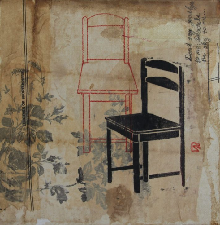 CHAIRS-20x20-acrylic-rice-paper-on-canvas