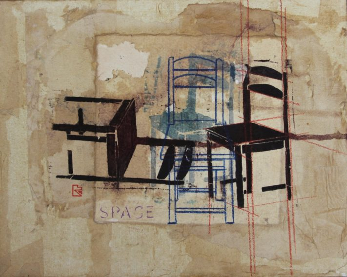 CHAIRS-24x30-acrylic-rice-paper-on-canvas