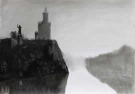 TBILISI-Charcoal-on-paper-70x100