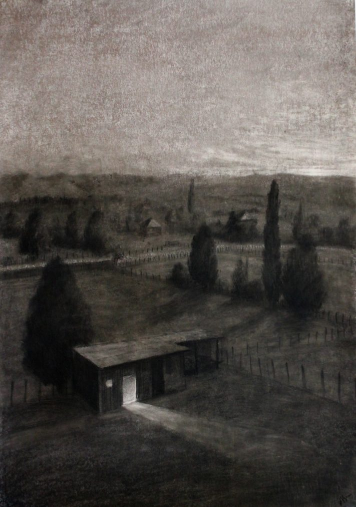 Village-charcoal-on-paper-70x100-1