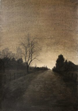 Village-charcoal-on-pape-70x100