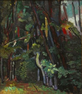 Temo-Machavariani-The-Forest-Oil-on-cardboard