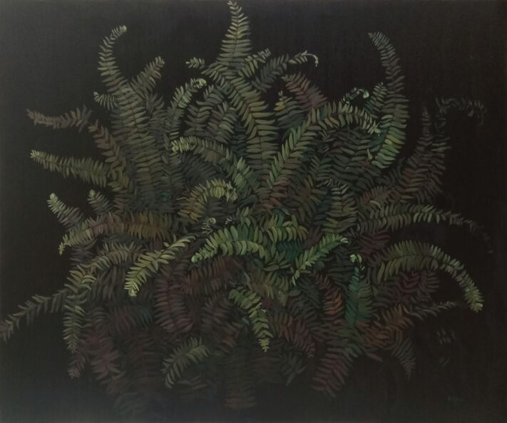 RIXA39-FERN-100x120-oil-on-canvas