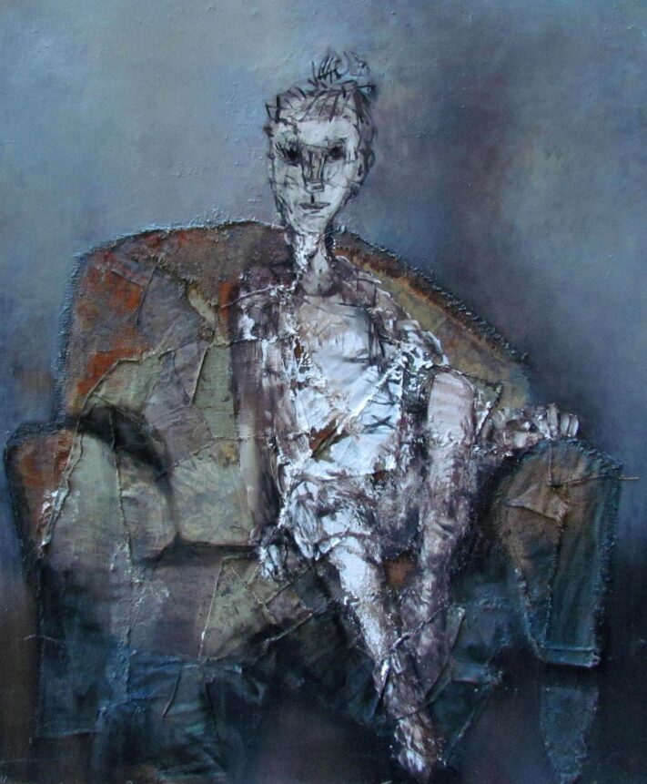 Giorgi-gagnidze-an-old-armchair-125x100cm-mixed-media-2020