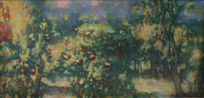 Shalva-matuashvili-pomegranate-garden-oil-on-cardboard