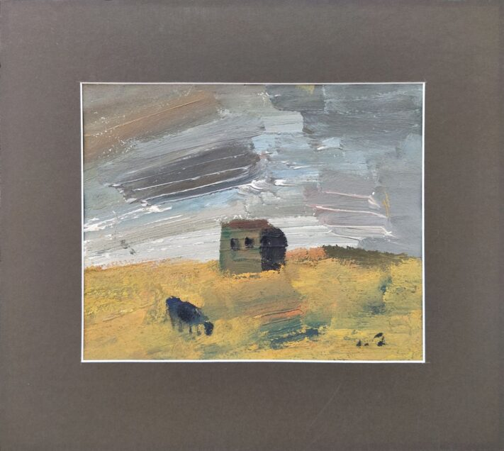 Chubchika - Landscape with a house and a cow
