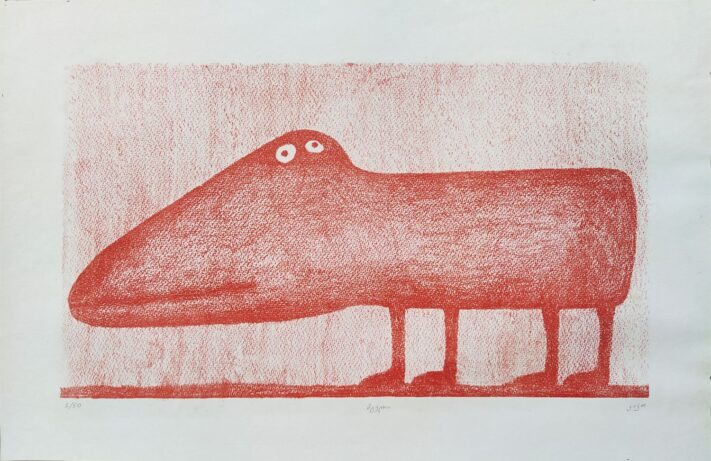 Kako Topuria - The Red Wolf - Silk Print