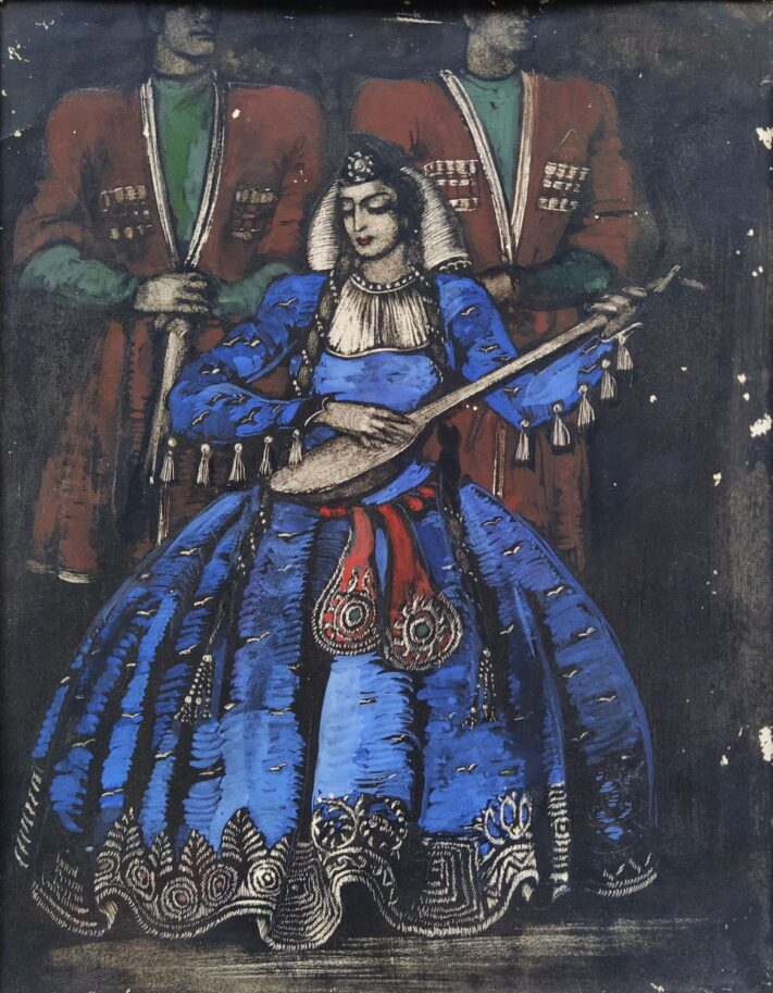 Tamar Abakelia - Sketch of Costumes