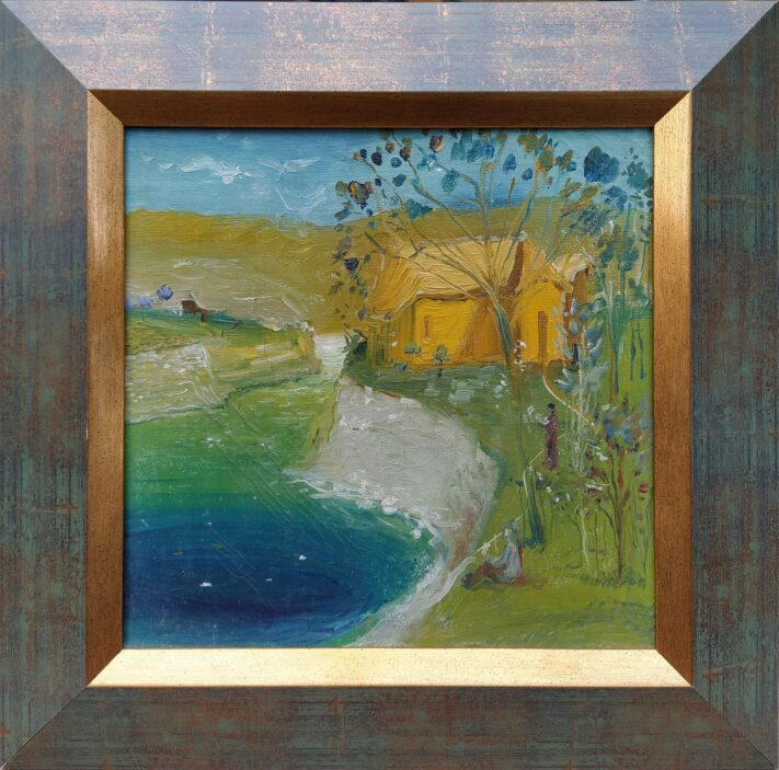 Gia Bughadze - House by the Water - 30 x 30 cm. oil on canvas 1983 2