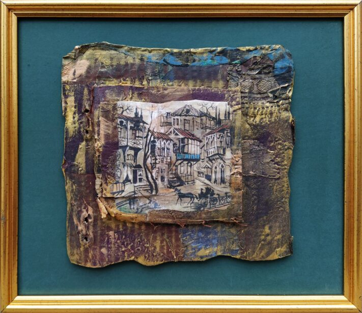 Keti Matabeli - Old Tbilisi - 24 x 28 cm. mixed media