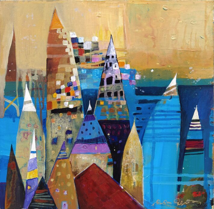 From the series Colorful Towns 30 x 30 cm. acrylic on canvas (2)