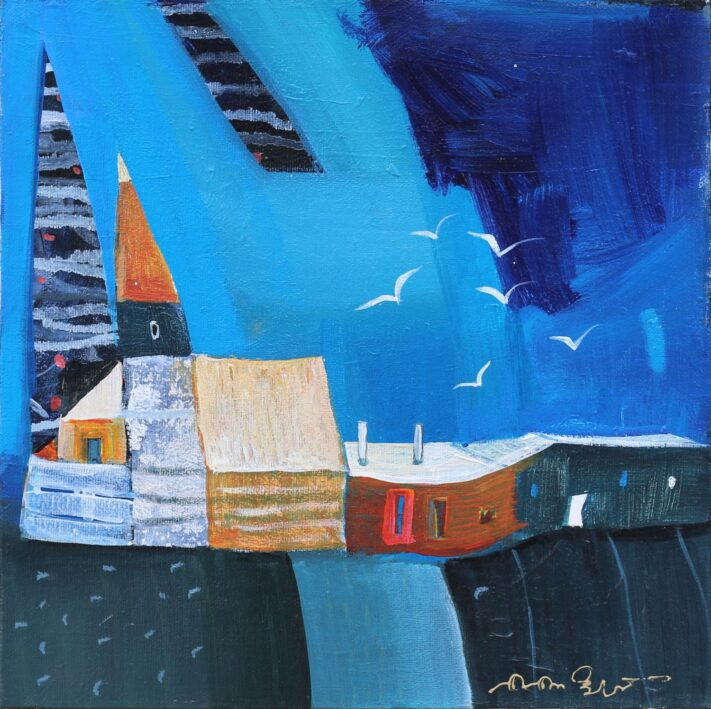 From the series Colorful Towns 30 x 30 cm. acrylic on canvas (3)