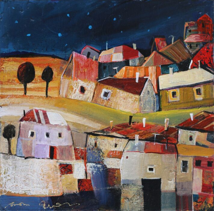 From the series Colorful Towns 30 x 30 cm. acrylic on canvas