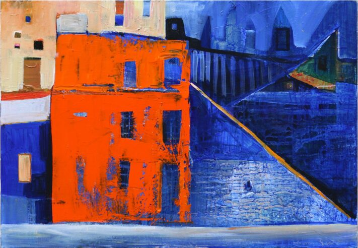 From the series Colorful Towns 55 x 80 cm. acrylic on canvas
