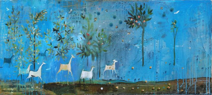 From the series GARDEN, 35 x 80 cm. acrylic on canvas