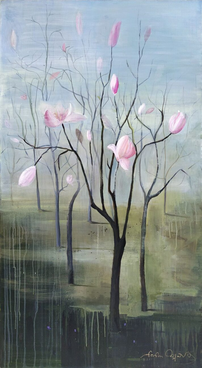 From the series SEASONS spring 140 x 75 cm. acrylic on canvas