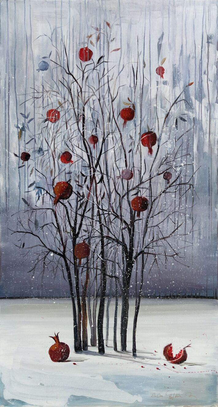 From the series SEASONS winter 140 x 75 cm. acrylic on canvas