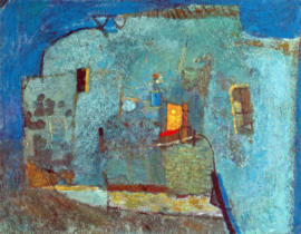Blue-House-1998-oil-on-canvas-79x100