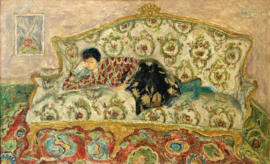 Lady on sofa